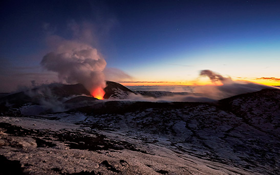 Mount Etna's history and evolution