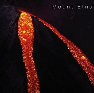 MOUNT ETNA' S VORAGINE CRATER ERUPTION